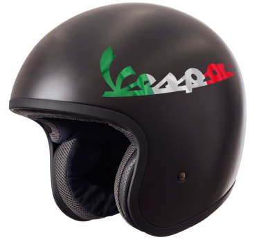 An original motorcycle decal with a helmet vespa design. Easy to apply, self adhesive and available in any required size.