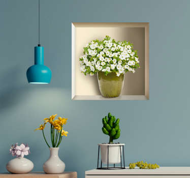 Decorate your home with this superb wall sticker, allowing you to put a plant pot on your wall without the need for a shelf! Personalised stickers.