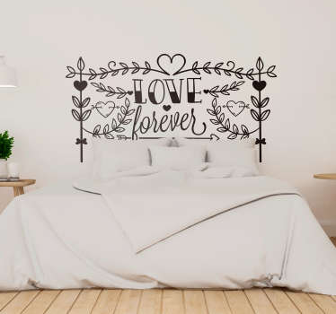 Show that your love really does last forever with this fantastic romantically inspired wall text sticker! Personalised stickers.