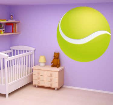 Si te gusta ver partidos de tenis decora  tu casa con éste colorido vinilo de una pelota de tenis.