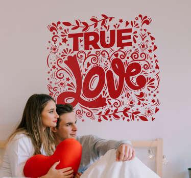 Autocolantes com texto amor verdadeiro
