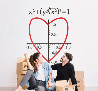 Love Equation Wall Sticker