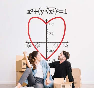 Origineller Aufkleber Herz mathematisch