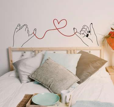 Wandtattoo Liebe Herz Zeichnung mit Händen