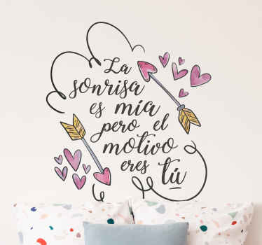 Decorative happy valentine's day wall sticker designed with love text and heart shape. Easy to apply and available in any required size.