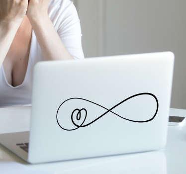 Laptop sticker oneindige liefde