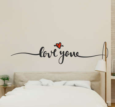 Add some romance to your bedroom with this fantastic headboard sticker, depicting the words ´I love you´ ! Choose your size.