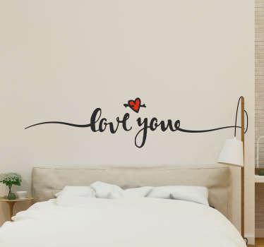 Origineller Aufkleber Love you Liebe Herz