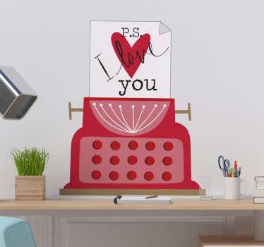 Tekst muursticker P.S. I love you