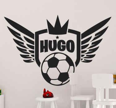 Wandtattoo Fußball mit Flügeln