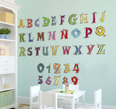 Vinilo infantil abecedario completo español
