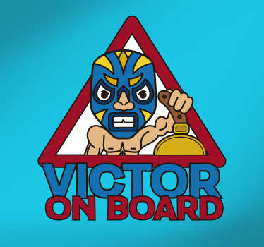 If your child loves wrestling then he is sure to be a huge fan of this vehicle sticker, depicting a child dressed as a wrestler!
