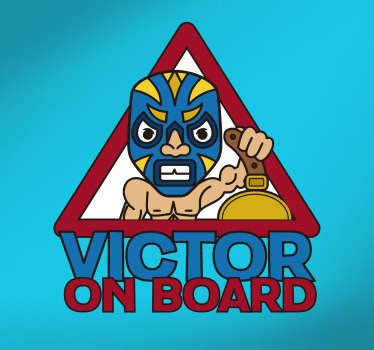 Baby Wrestler Vehicle Sticker