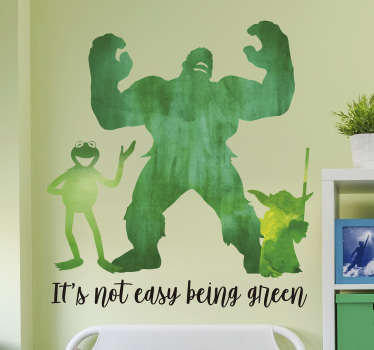 It really is not easy being green, so show your solidarity with Kermit thanks to this fantastic wall art decal! Sign up for 10% off.