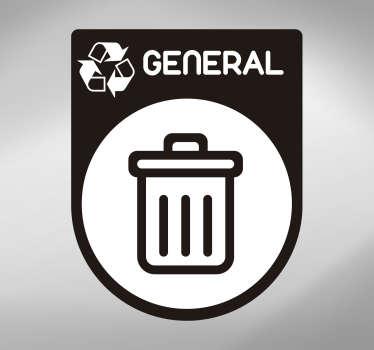 Vinilo icono reciclaje basura general