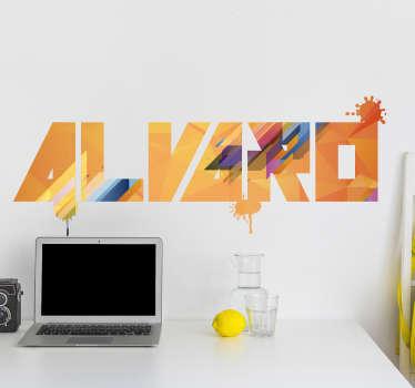 Vinilo pared texto moderno personalizado