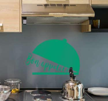 Sticker Maison Texte Bon Appétit