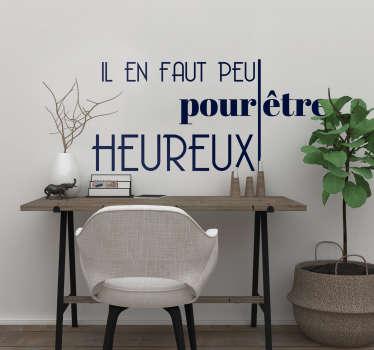 """Découvrez notre tout nouveau sticker mural citation du livre de la jungle """"Il en faut peu pour être heureux"""" rien que pour vous. Livraison Rapide."""