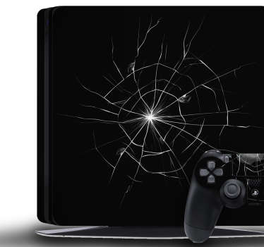 Cracked PS4 Skin Stickers