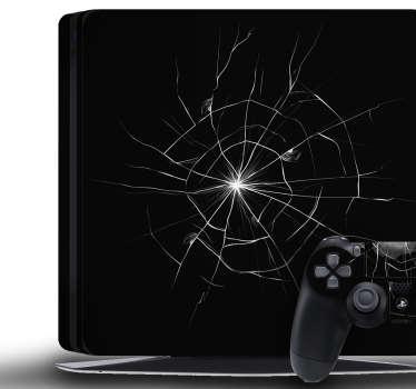 Sticker PS4 Trompe l Oeil Fissure