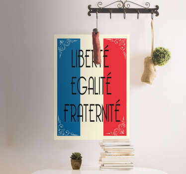 Liberté Egalité Fraternité Flag Sticker