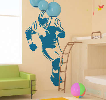 Sports Stickers - Add a sporty touch to any room with this illustration of an American football player. Great for decorating kids´rooms. Ideal for fans and sports-related organisations.