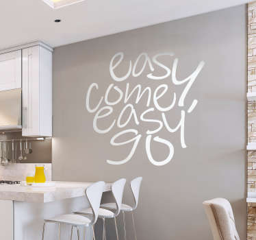 Add some famous song lyrics to your wall with this fantastic Queen themed wall text sticker, depicting the famous words!