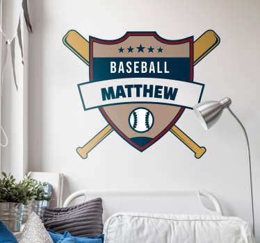 Baseball Customisable Wall Sticker