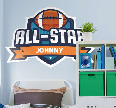 Add a personalised touch to your child´s bedroom with this fantastic football themed customisable wall sticker! +10,000 satisfied customers.
