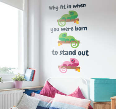 Encourage yourself to be different with this wall text sticker, showing an inspiring Dr Seuss quote! Sign up for 10% off.