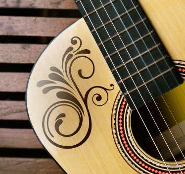 Floral Detail Guitar Sticker