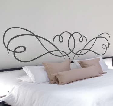 A creative and original headboard sticker to make your bed stand out. A great decal to give your bedroom a touch of your own.