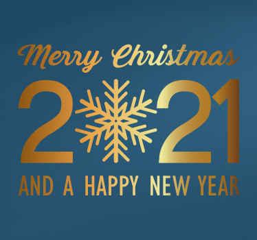 Raamsticker Kerstmis Nieuwjaar