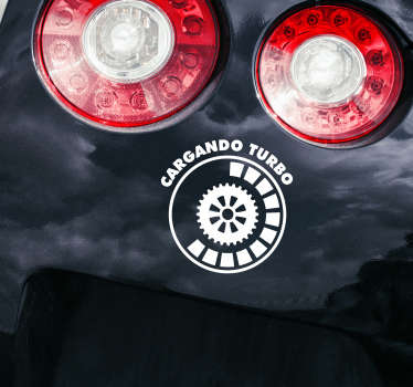Vinilo motor cargando turbo