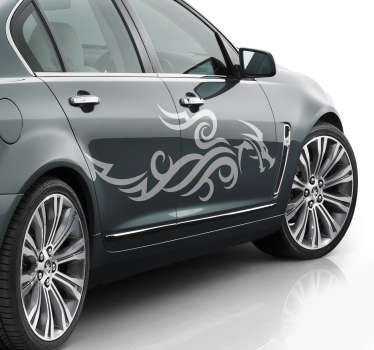 Decorative tribal dragon Car vinyl  Sticker.  It is an abstract silhouette design that can be used on all flat surface of choice . Easy to apply.