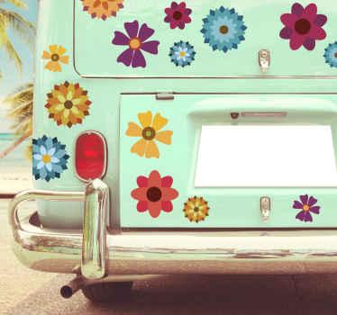 Multicoloured Flowers Vehicle Sticker
