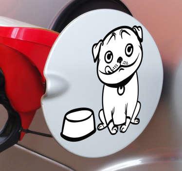 Vinilo animal perro gasolina