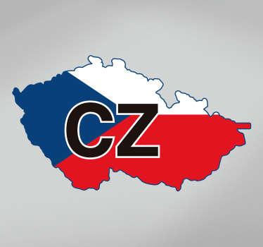 česká republika vlajka auto nálepka na ozdobení jakéhokoli vozidla. K dispozici v jakékoli požadované velikosti. Snadno se nanáší, je samolepicí a odolný.