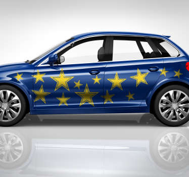 Decorate a vehicle with our original car vinyl decal of star print. It is available in different colours ans size options.