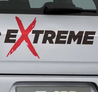 Sticker Voiture Tuning Extreme
