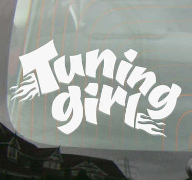 Sticker Voiture Tuning Girl