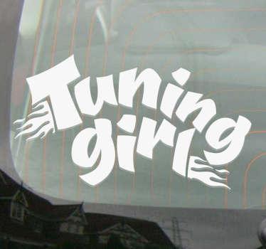 Sticker Voiture Tuning Girl