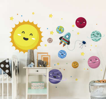 Decorate your child´s bedroom with an educational tool thanks to this fantastically informative wall sticker! Extremely long-lasting material.