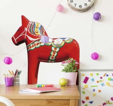 Dala häst vardagsrum vägg inredning