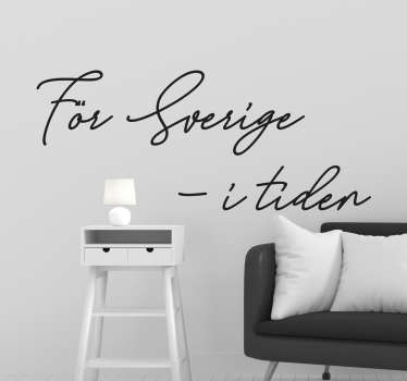 Sverige citat vardagsrum vägg inredning