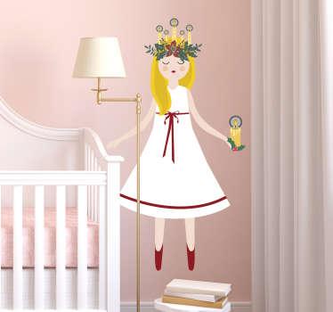 Santa lucia ängel vägg klistermärken för barn