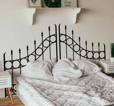 Decorate your bedroom with this fantastic fenced gate inspired headboard wall sticker, perfect for happy couples! Zero residue upon removal.