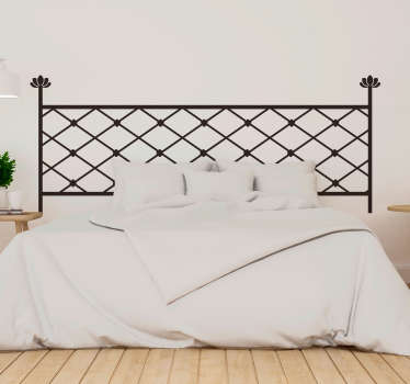 Geometric forging headboard sticker for home decoration. It is available in different size and colour options. Easy to apply and self adhesive.