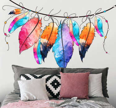 If you love bird feathers and/or colour, then this sparkling home wall sticker might just be the perfect one for you! Zero residue upon removal.