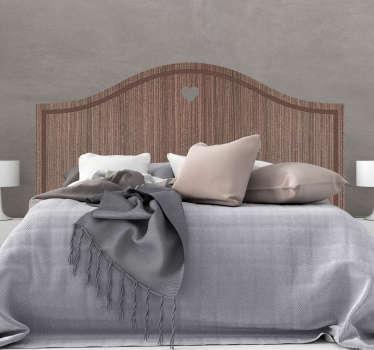 Naklejka tekstura drewnianej ramy nad łóżko
